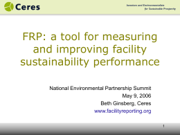 The role of local level reporting in environmental