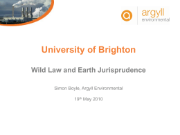 Wild Law and Earth Jurisprudence (MS PowerPoint) -