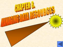 MANAGING DATA RESOURCES