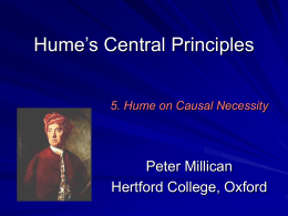 Lectures on Hume`s Treatise: 1