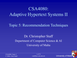 CSA4080: Adaptive Hypertext Systems II