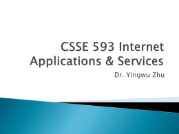 CSSE 593 Internet Applications & Services