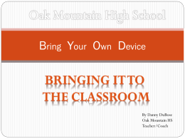 Bring Your Own Device - Shelby County Schools
