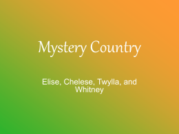 Mystery Country - EdTech Boise State