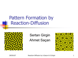 Pattern Formation by Reaction