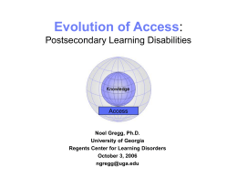 Evolution of Access: Postsecondary Learning