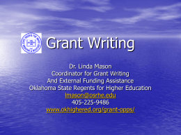 Grants and Grantwriting