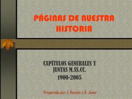 CAPÍTULO GENERAL 1922