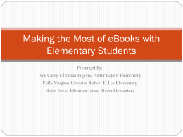 Making the Most of Ebooks with Elementary Students