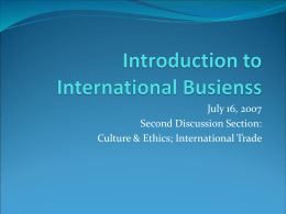 Introduction to International Busienss