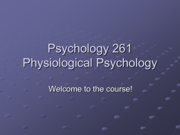 Psychology 261 - University of Waterloo