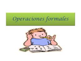 Operaciones formales