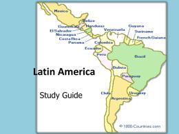 SS6 Unit 1: Latin America
