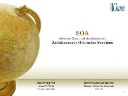 SOA (Service Oriented Architecture) Architectures