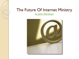 The Future Of Internet Ministry