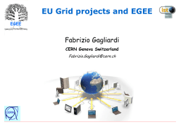 EU Grid activity and future EGEE project