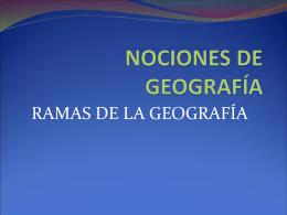 NOCIONES DE GEOGRAFÍA