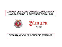 Presentación Departamento COMEX Cámara Málaga