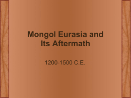 Mongol Eurasia and Its Aftermath