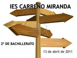 IES CARREÑO MIRANDA 2º DE BACHILLERATO
