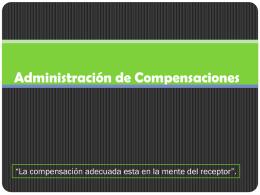Administración de Compensaciones
