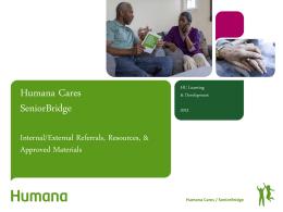 Humana Cares SeniorBridge Internal/External