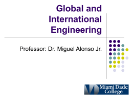 Global and International Engineering
