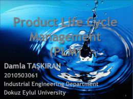 Product Life Cycle Management PLM)