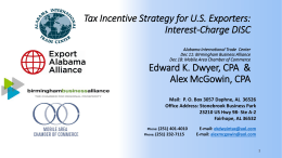 Tax Incentive Strategy for U.S. Exporters: