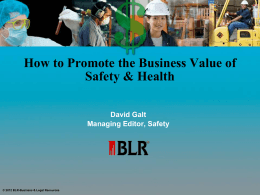 How to Promote the Business Value of Your EHS&S
