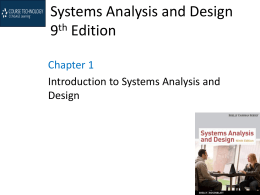 Systems Analysis and Design 9th Edition -