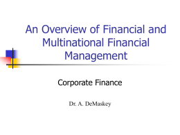Introduction to Financial Management and Analysis