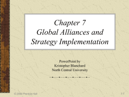Chapter 7 Global Alliances and Strategy