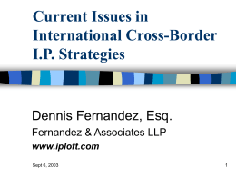 Current Issues in International Cross