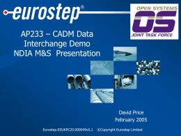 DoDAF CADM ISO AP233 OMG UML Converter Interim