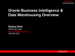 Oracle Warehouse Builder - An Overview