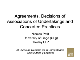 Agreements, Decisions of Associations of