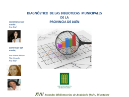 DIAGNÓSTICO DE LAS BIBLIOTECAS MUNICIPALES DE LA