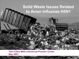 Solid Waste Issues Related to Avian Influenza H5N1