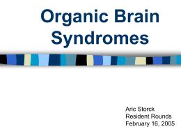 Organic Brain Syndromes