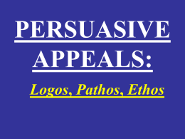 PERSUASIVE APPEALS: - Luzerne County Community