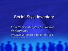 Social Style Inventory - California Association of