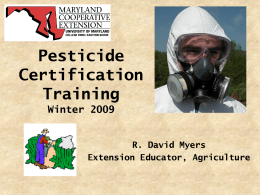 Maryland Private Applicator Training