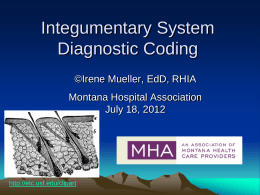 MS Diagnostic Coding - Montana Performance