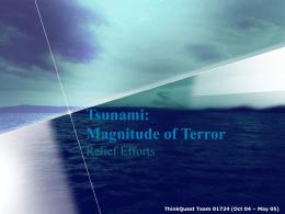 Tsunami: Magnitude of Terror