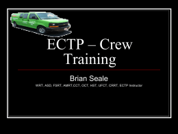 ECTP – Crew Chief - Wilson Trainership