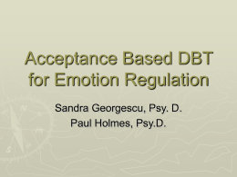 ACT-ifying DBT