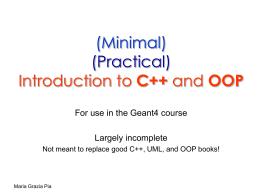 C++ essentials - Istituto Nazionale di Fisica