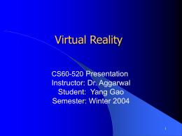 Virtual Reality - University of Windsor