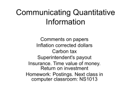 Communicating Quantitative Information